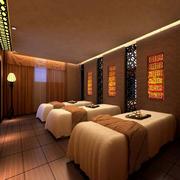 美容院简约风格spa床设计
