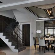 跃层简约风格餐厅吊顶装饰