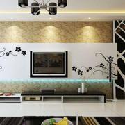 现代简约风格客厅印花背景墙装饰