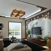 中式复式楼简约风格吊顶装饰