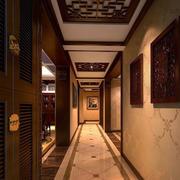 中式原木花纹吊顶装饰