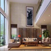 大型复式楼简约风格客厅窗户效果图