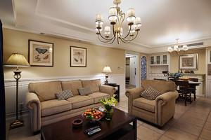 心灵的归宿:140平米简约美式三室一厅样板房装修