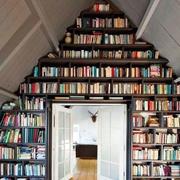 美式斜顶阁楼书房装饰
