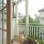 欧式田园风格外设阳台装饰