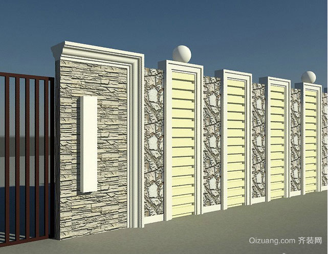 坚韧挺拔的围墙设计效果图