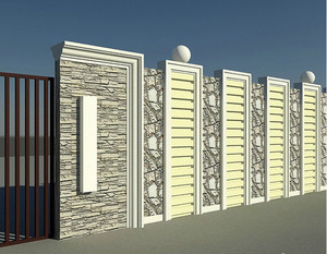 别墅简约风格围墙装饰