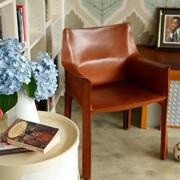 120平米老房简约风格皮制桌椅装饰