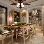 三室一厅简约风格餐厅效果图