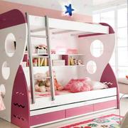 美式简约风格整体式双人床装饰