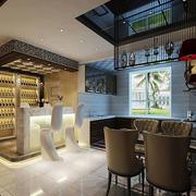后现代风格公寓酒柜吧台装饰