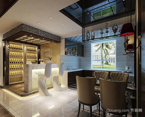 140平米震撼视觉冲击黑白搭配效果的公寓装修
