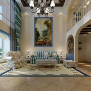地中海风格简约复式楼客厅装饰