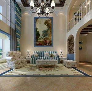 海天一色、纯美自然的地中海风格客厅装修效果图鉴赏实例