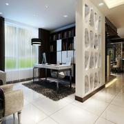 公寓现代风格书房隔断装饰