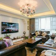新房欧式简约风格电视背景墙装饰