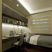后现代风格简约卧室置物架装饰