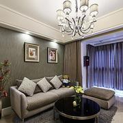 三室一厅简约风格客厅沙发背景墙