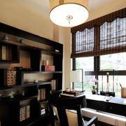 公寓原木深色系书房装饰
