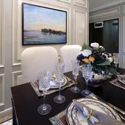 两室一厅欧式简约风格餐厅背景墙