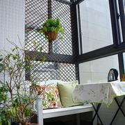 欧式田园风格内嵌式阳台装饰