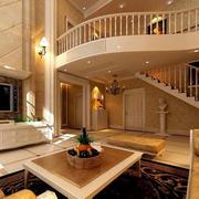 别墅大型跃层欧式客厅装修