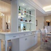 现代简约白色系酒柜装饰