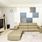 简约风格拼色沙发背景墙