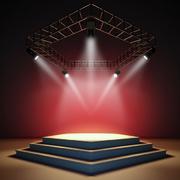 舞台简约风格台阶装饰