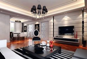 100平米房屋后现代风格客厅装饰