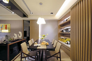 三室一厅简约风格餐厅装饰