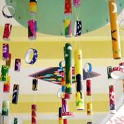 简约风格幼儿园风铃吊顶装饰