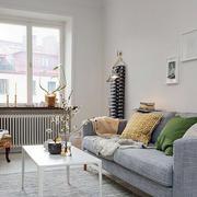 北欧风格小户型灰色系沙发装饰