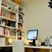 现代简约风格书房整体书柜装饰