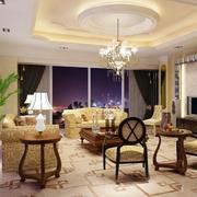 欧式风格海景房客厅效果图