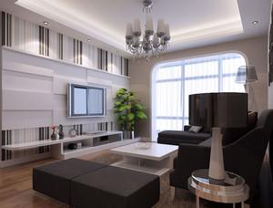 设计精美的70平米小户型家装客厅装修效果图鉴赏
