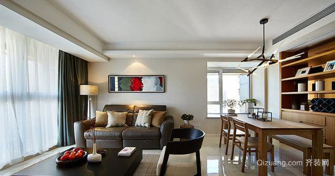 140平米现代简约原木设计的三居房屋装修效果图