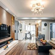 三室一厅简约风格沙发照片墙设计