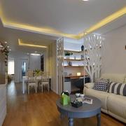 住宅式商品房沙发背景墙装饰
