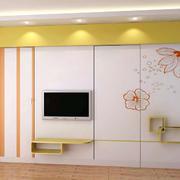 现代简约风格印花背景墙装饰