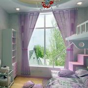 美式紫色儿童房效果图