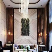 复式楼简约中式风格客厅隔断装饰