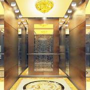 欧式奢华电梯间效果图