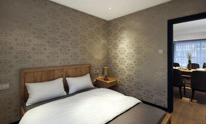 环保无污染卧室液体壁纸装修效果图