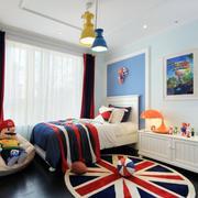 美式简约风格儿童房窗户装饰