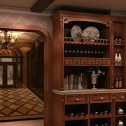 欧式原木酒柜装饰