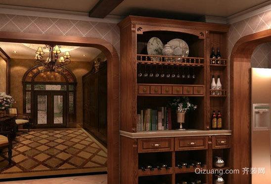 看到就想一喝酒的红酒酒柜图片效果图