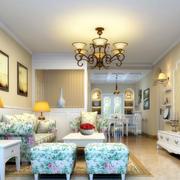 复式楼简约风格客厅石膏线装饰