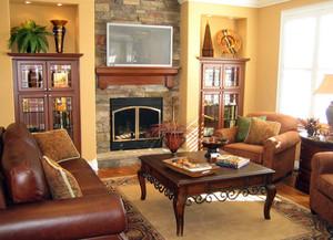 美式经典风格客厅效果图