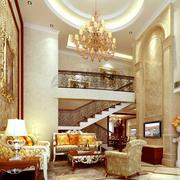 欧式风格饭店大堂精致沙发装饰